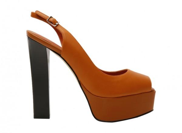 Cognac High Heel-PW1-26370013