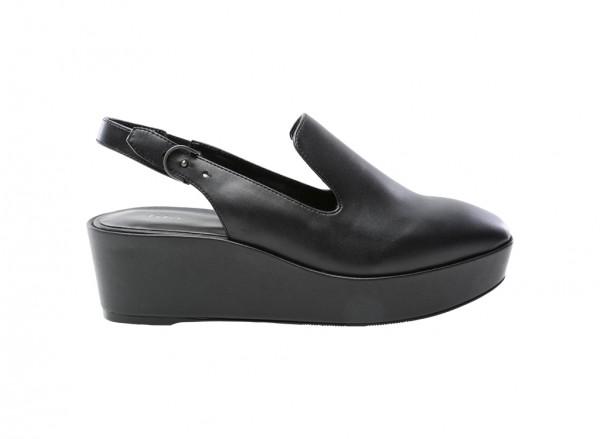 حذاء كعب سميك أسود