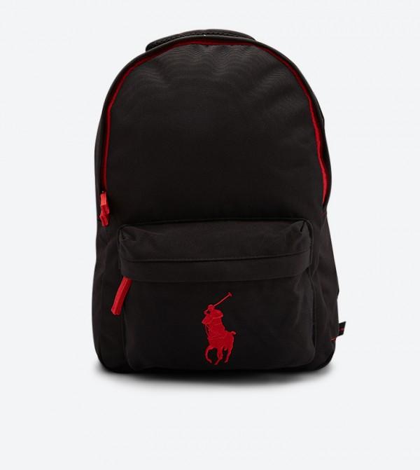 حقيبة ظهر بسحاب للإغلاق لون أسود