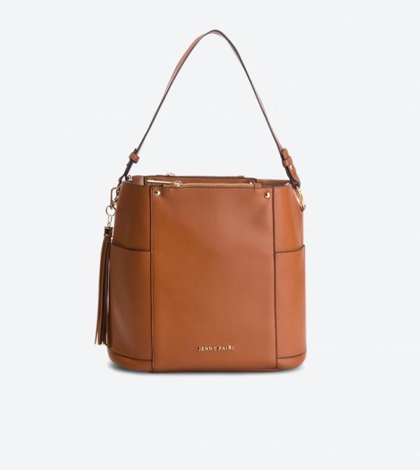 حقيبة يد بلون بني