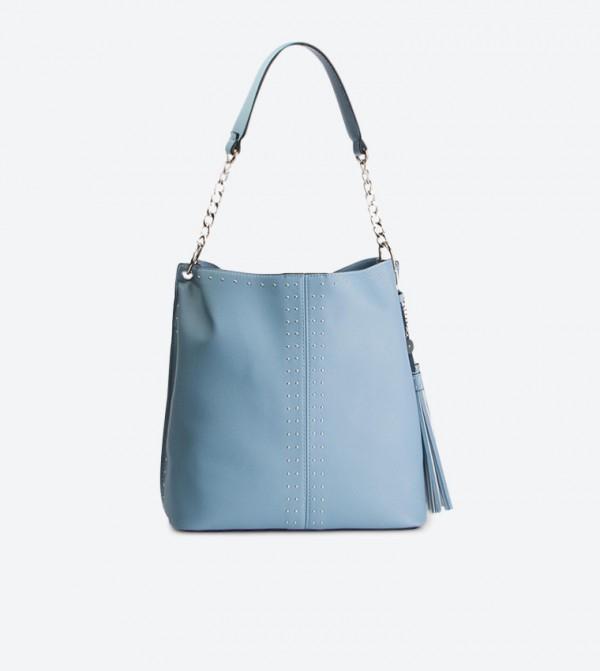 حقيبة كتف بلون أزرق