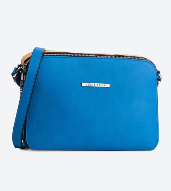 حقيبة بحمالة كتف طويلة لون أزرق