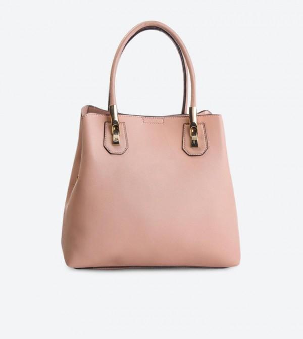 حقيبة يد بلون زهري