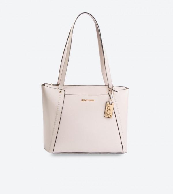Metallic Brand Detail Tote Bags - Off White RX0008