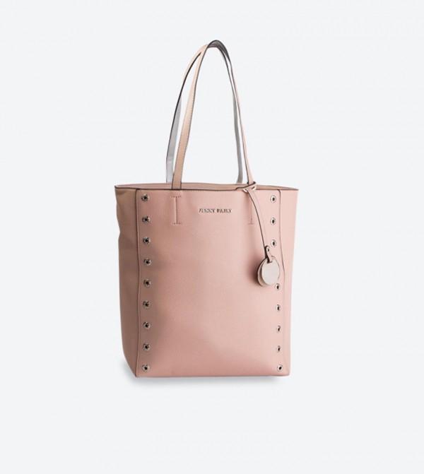 Brand Detail Tassel Details Tote Bag - Pink RX0119