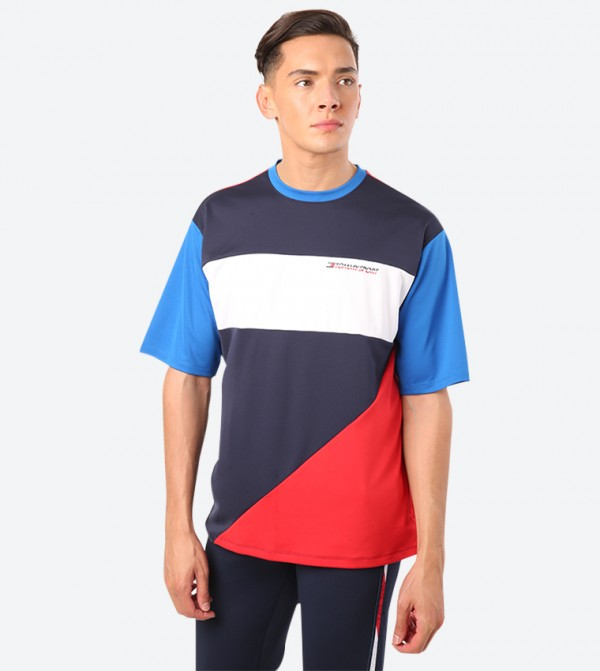 Statement Short Sleeve Crew Neck T-Shirt - Multi