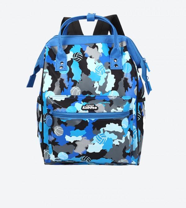 Camouflage Texture Shoulder Straps Backpack - Multi