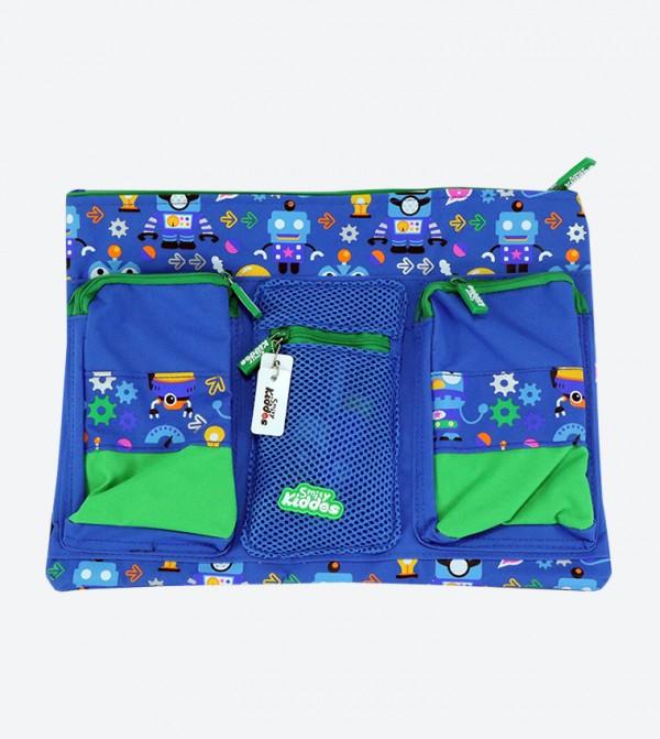 Zip Pocket Closure A4 Pencil Case - Blue