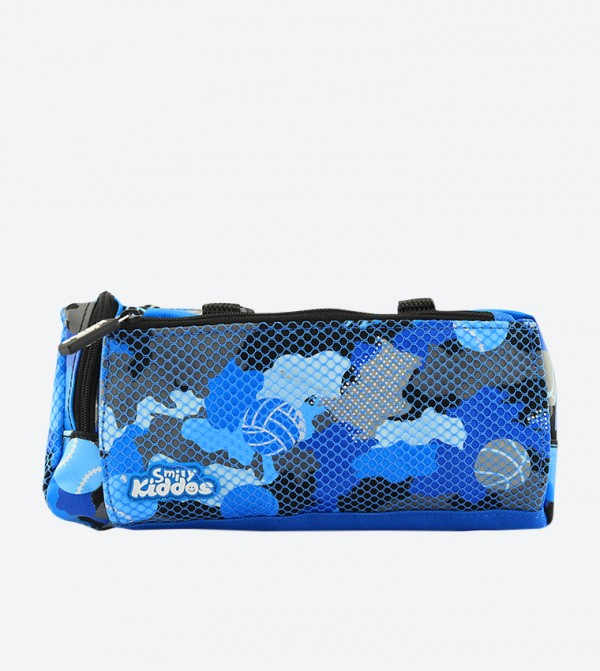 Camouflage Printed Fancy Bliss Pencil Case - Blue