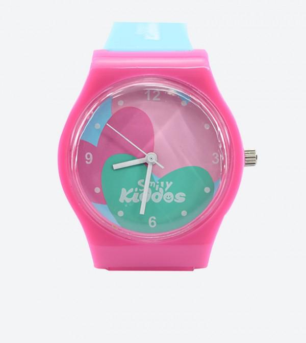 Buckle Pin Closure Analog Watch - Pink