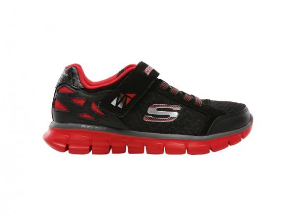 حذاء سنرجي لون أسود وأحمر