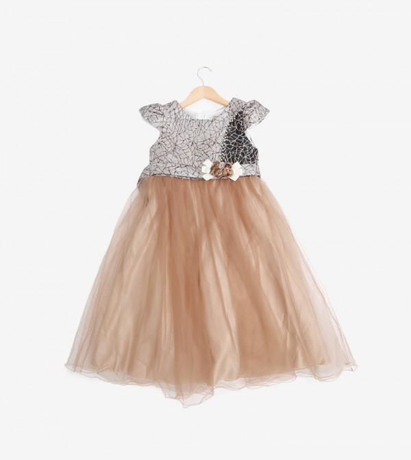 Dress Short Sleeves - Brown