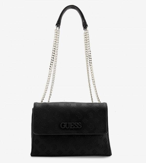 حقيبة جانيلي بحمالات متعددة لون أسود
