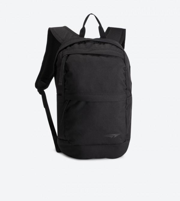 Top Zip Closure Adjustable Shoulder Straps Backpack - Black SS19-015
