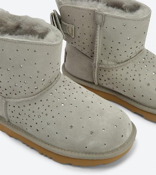 6c3f616a29f Ugg Stargirl Classic Mini Ii Bow Boots - Grey STARGIRL CLASSIC ...
