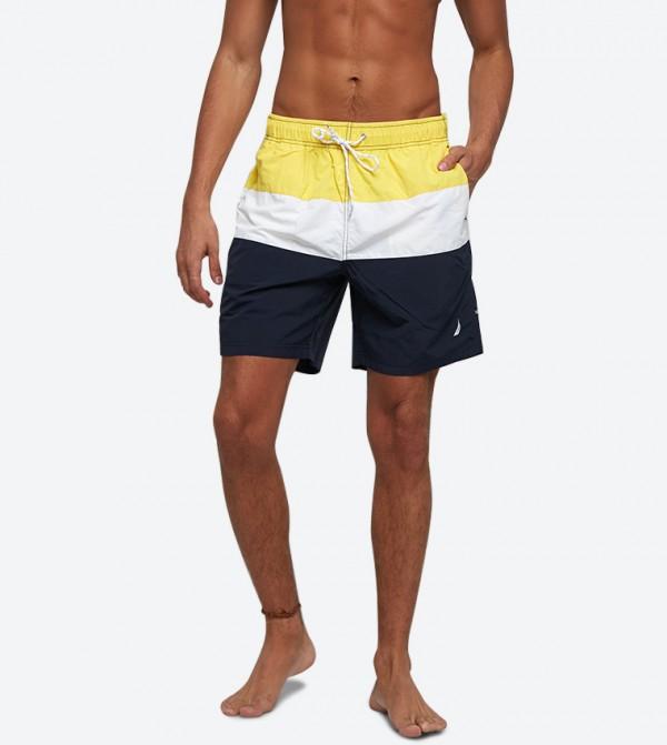 شورت سباحة بلون أصفر