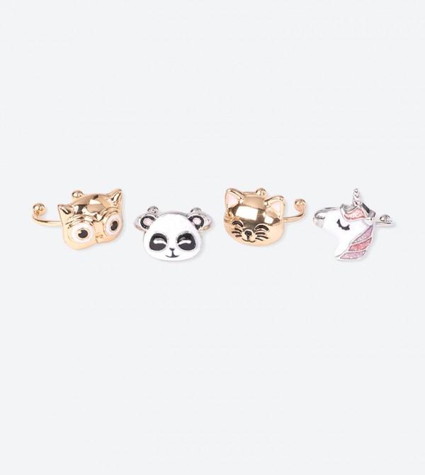 Critter Rings (4 Pcs) - Multi