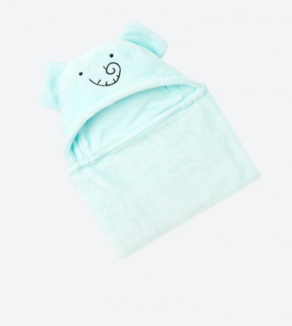 Elephant Style Hooded Cozy Blanket - Blue