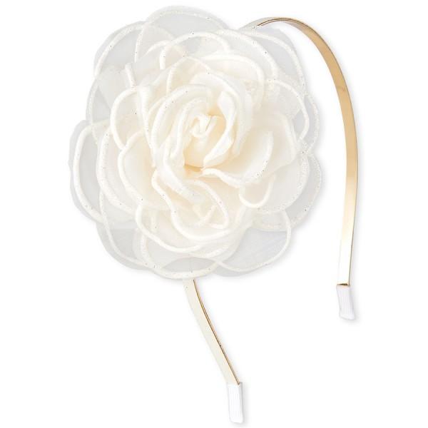 Bg Rose Flw Glt Hb - White