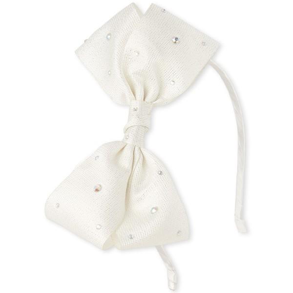 Bg Tapg Ston Bow - White