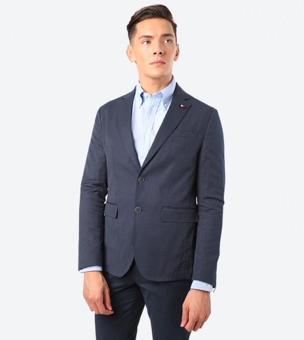 Flex Slim Fit Long Sleeve Blazer - Blue