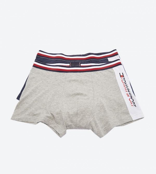 Brand Flag Detailed Elasticated Waistband Underwear (2 Pcs) - Multi