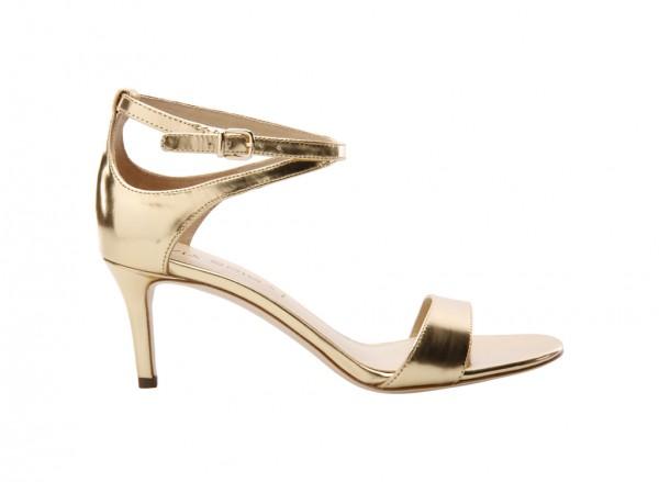 V-Leesa Gold Mid Heel