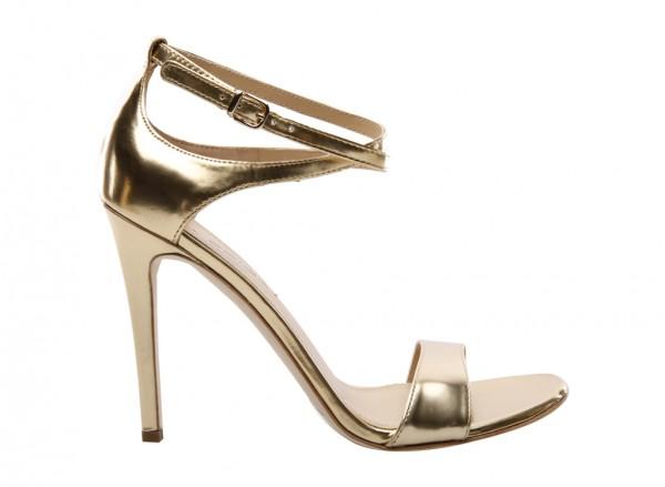 V-Tiara Gold Mid Heel