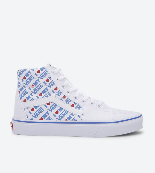 Ua Sk8-Hi Lace Up Closure Sneakers - White VA8GEVP5