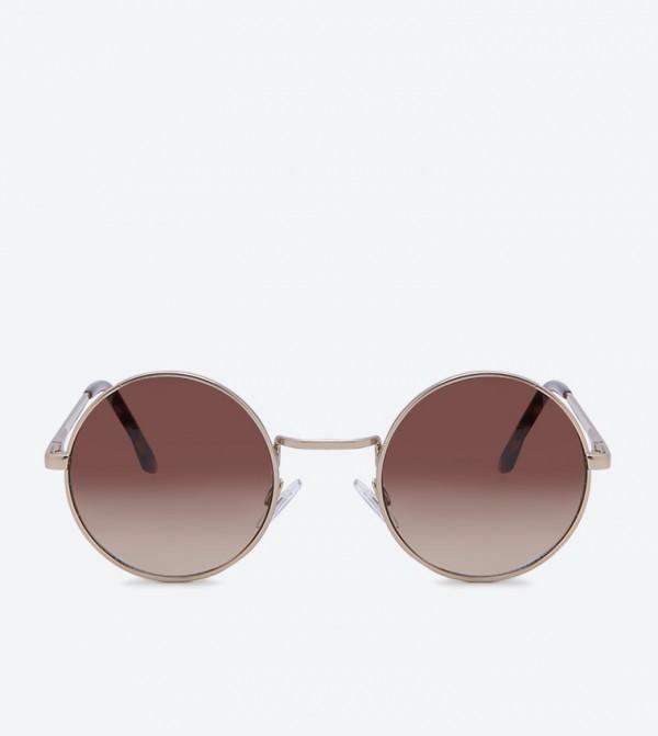 نظارات غندري شمسية بلون ذهبي