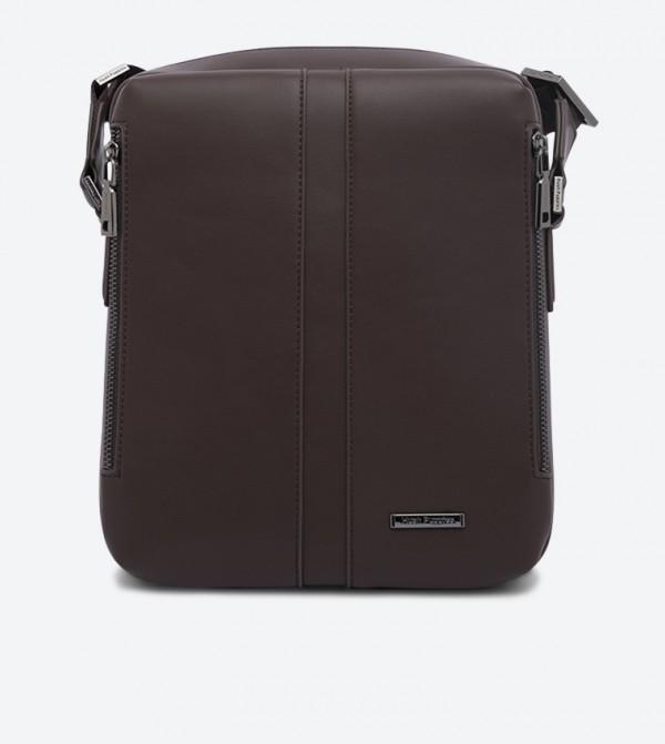 حقيبة جون بحمالة طويلة لون بني