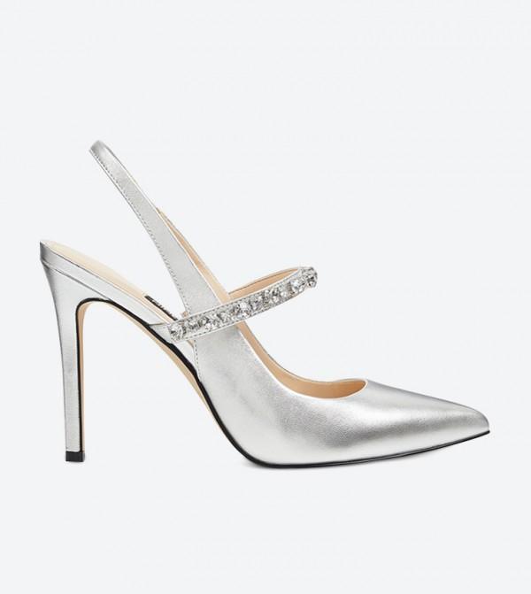 حذاء تيسا بكعب عالي لون فضي