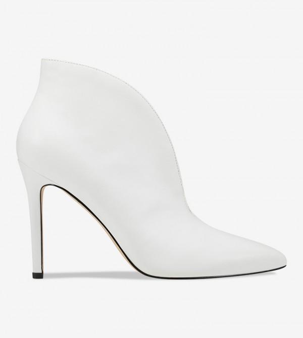 Women Bootie Solid Footwear - White