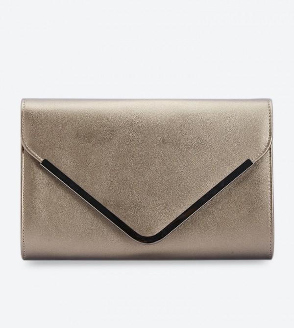 Envelop Flap Details Snap Button Closure Clutches - Dark Gold WP30-004 2221009800011