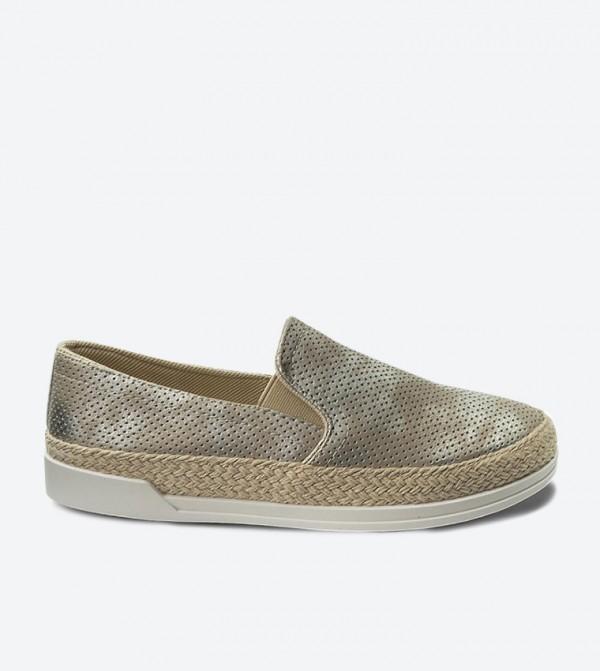حذاء سهل الإرتداء بلون فضي