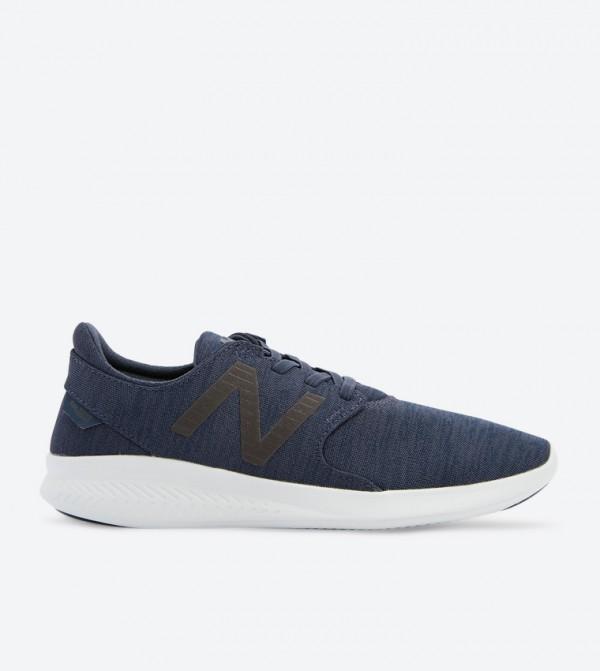 Najnowsza styl mody świetna jakość New Balance Logo Details Lace-Up Sneakers - Navy