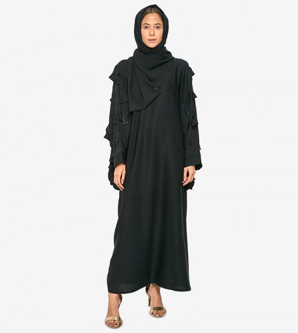 Long Sleeve Abaya - Black
