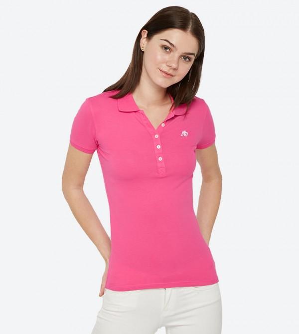 Short Sleeve Classic Collared Polo Shirt - Light Purple AERO GIRLS POLOS