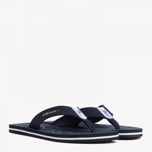 Tommy Hilfiger Iridescent Detail Beach Womens Midnight Navy Beach Sandals