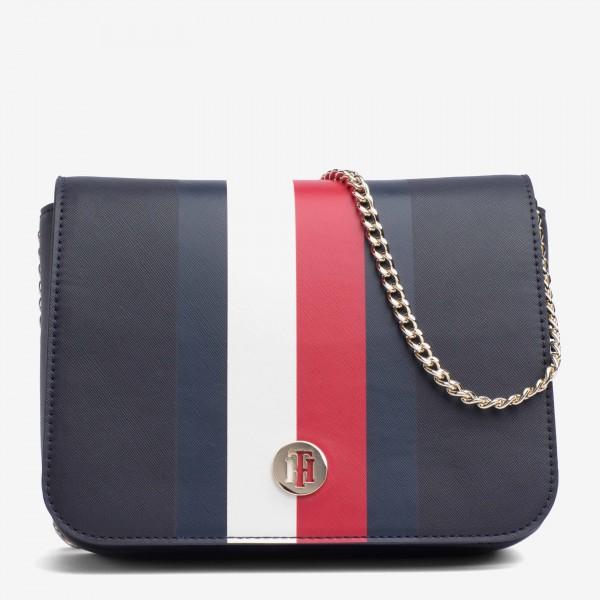 tommy hilfiger monogram crossover handbag
