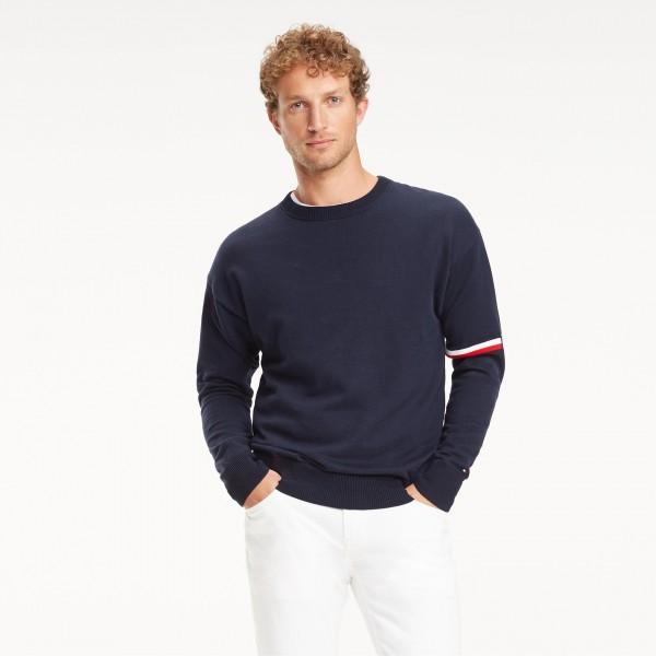 Tommy Jeans Mens Tape Crew Crew Neck Sweatshirt