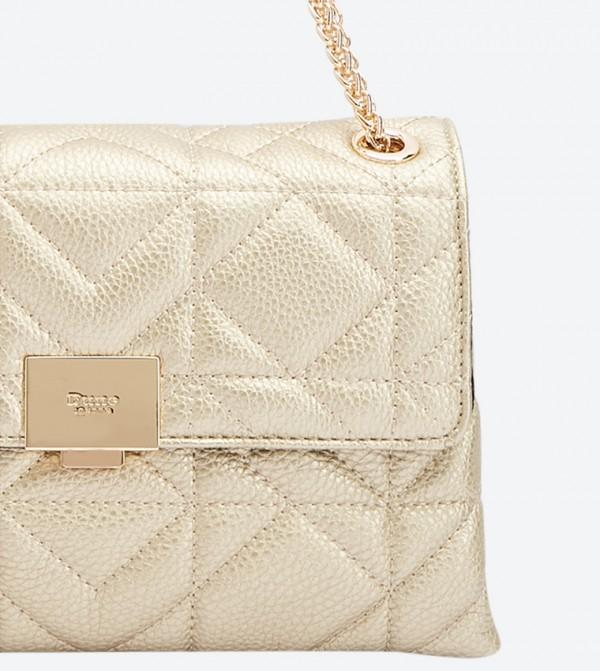 Dune London Evangelina Quilted Shoulder bags - Gold 0009500110246398 74bdc59bbf6d4