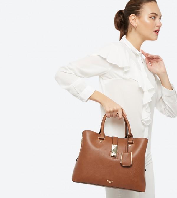 000dfe34ac2d Diella Triple Compartment Unlined Shopper Bag - Tan 0019500110222351