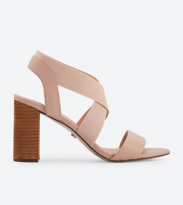 a1b568f87fb1 Dune London Jogger Criss Cross Straps Block Heel Sandals - Pink