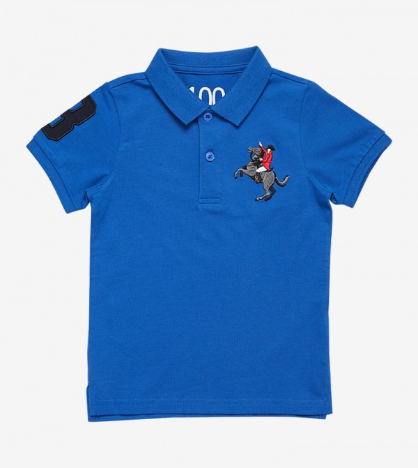 e54d7c1b4 Giordano Short Sleeve Classic Collar Napoleon Polo Shirt - Blue