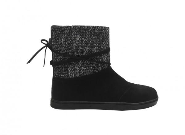 حذاء بساق عالي لون أسود