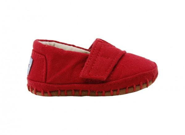 Crib Alpargata Red Sandals