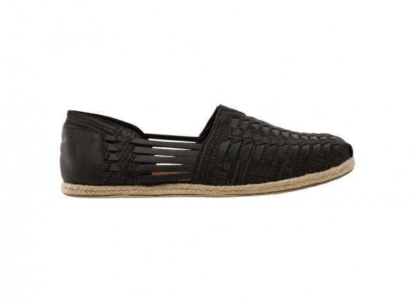 Alpargata Huarache Black Slip-Ons
