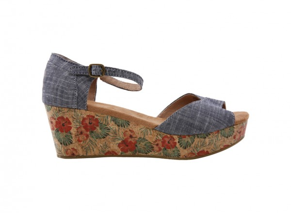Platform Chambray Wedges