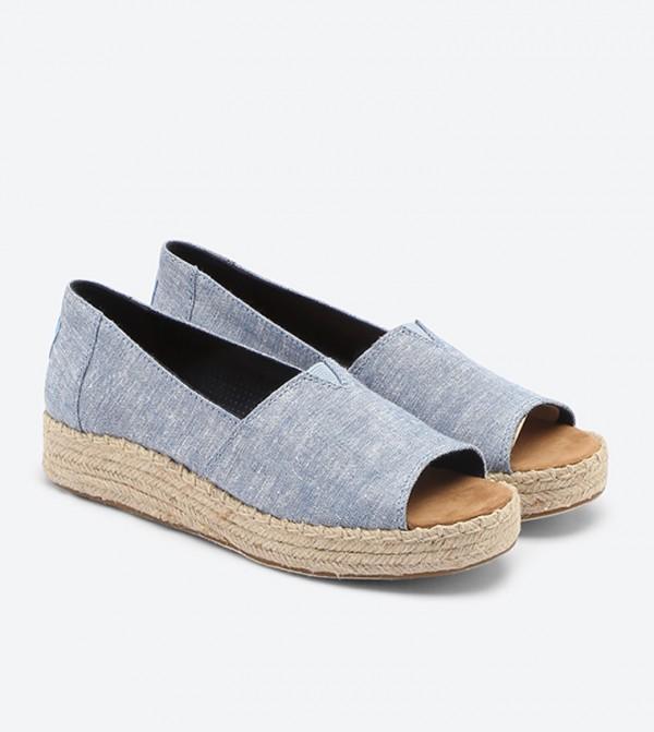 820f3b67813c Open Toe Platform Alpargata Espadrilles - Blue 10009746